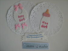 Baby girl embelishment pack, includes banner for new Grand parents too!