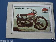 SMP078- MONDIAL 250 & MAICO MC501 MOTO  PICTURE STAMP ALBUM CARD,ALBUM PLAATJE