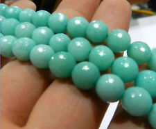 8mm light blue Faceted Brazilian Aquamarine Gem Loose Beads 15""