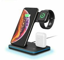 Charging Dock Station 15W Qi Wireless Stand For Airpods iPhone iWatch 5 4 3 2 1