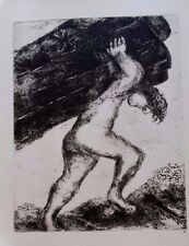 Marc Chagall offset lithograph Bible  paris maeght 1960 original  55  2 sided