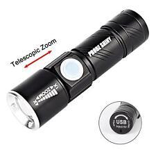 USB Rechargeable Lampe Torche 8000Lumen  LED 3 Modes de Poche Extérieure EH