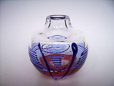 Glas Vase Jiri Suhajek Ludwig Moser Karlsbad Czech Art glass Design um 1973