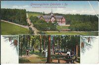 Ansichtskarte Genesungsheim Grünhain/Sachsen - Allg. Ortskrankenkasse Chemnitz