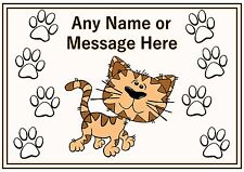 Personalised A4 Cat Dog Pet Feeding Food Water Dinner Mat Bengal Cat