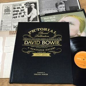 Personalised David Bowie Pictorial Edition Newspaper Book Gift Box Music