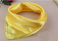 Women Fashion Silk Square Scarf Soft Small Plain Neckerchief Head Neck Headband