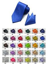 SET schmale Krawatte dünne KRAWATTE und EINSTECKTUCH viele Farben    NEU