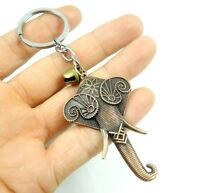 Creative Key Chain Ring Keyring Metal Keychain Gift Tool Elephant Pendant D1