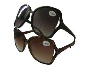 Sunreaders Designer Ladies Reading Sunglasses Large Oversized Glamourous Frame