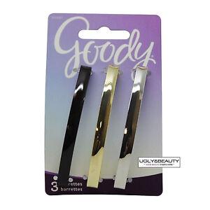 Goody Barrettes 3 PCS (Item#: 02607) Dark Brown, Gold, Silver Colors