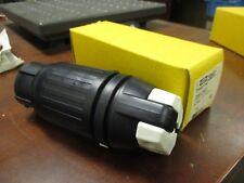 Hubbell Insulgrip Twist-Lock Connector C58264C 50A 250V 2P 3W New Surplus