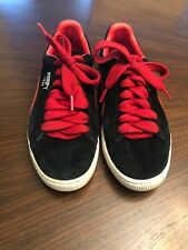 PUMA SUEDE Classic Shoes Sneakers Size Mens 8.5 Red And Black*Good*