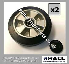 X2no. 200/50mm rubber steer wheels for CHADWICK M25 series 3 pallet truck
