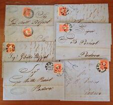Lombardo Veneto Collezione di 13 lettere indirizzate a Gian Battista Pezziol