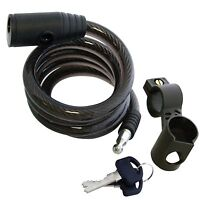 Heavy Duty Cable Bike Bicycle Lock With Two Keys Strong Security Chain Secure