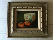 "Original Oil Painting Still Life, Signed by Andersen, Framed, 9 1/2"" x 7 1/2"""