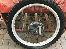 "1976 Yamaha YZ125 Front Wheel and Brake Plate  YZ 125  Axle    21"" Rim"