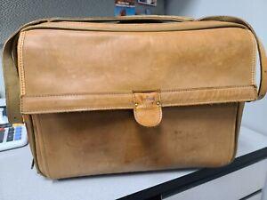 Hartmann Leather Briefcase/Messenger Overnight Bag