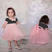 Flower Girls Princess Pageant Bowknot Sash Wedding Bridesmaid Party Tutu Dresses