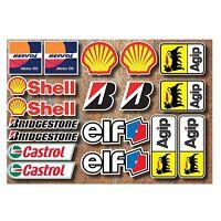 18 PVC Aufkleber Set Motorsport Rennsport Motorrad Auto Racing Laminiert Sticker