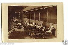 Photo ancienne portrait hommes sanatorium hôpital soins maladie - an. 1920