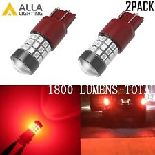 Alla Lighting 7443 39-LED Brake/Center High Stop/Tail Light Bulb Lamps Vivid Red