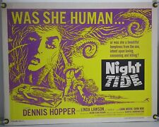 NIGHT TIDE ROLLED ORIG HALF-SHEET MOVIE POSTER DENNIS HOPPER LUANA ANDERS (1963)