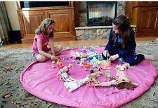 Tappeto di gioco e combinati Toy Storage Bag per LEGO, automobili, bambole etc-Nuovo di Zecca Rosa