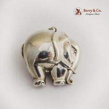 Vintage Sterling Silver Elephant Christmas Ornament Pendant