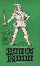 C1960s Theatre Programme: Robin Hood: Lew & Leslie Grade