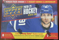 2020-21 UPPER DECK UD NHL Hockey SERIES 2 S2 BLASTER BOX 7 Packs SEALED
