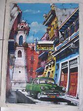 CUBAN Art Oil Oleo Painting  Artist Cuba OLD HAVANA