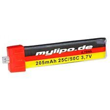 mylipo Lipo 1S 205mAh 3,7V 25C/50C! Perfekt für Blade Inductrix, Nano CPX/S + QX