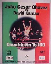 Julio Cesar Chavez vs David Kamau Official On Site Boxing Fight Program 9/1995