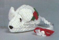 """VINTAGE KNITTING PATTERN FOR TINY CHRISTMAS MOUSE / MICE - XMAS DECORATION - """""""