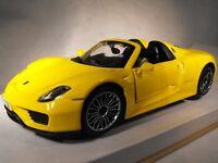 MODEL PORSCHE SPORTS CAR YELLOW PORSCHE 918 SPYDER SPORTS CAR NEW Porsche Gift