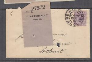 VICTORIA, 1904 Tatt's cover with Label attached, 2d., Melbourne cds.