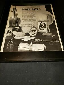 Tompall & the Glaser Brothers Faded Love Rare Original Promo Poster Ad Framed!