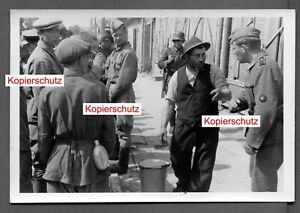 Orig. Foto gefangene Bevölkerung Jude mit Bart / Jew / Judaika + Hiwis + Rußland