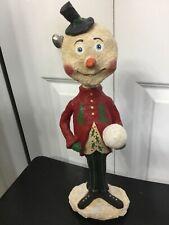 15� Christmas Snowman By Monnie Wilson Papier Mache