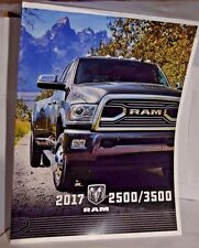2017 Dodge Ram 2500/3500 Pickup Truck Factory Original Sales Brochure