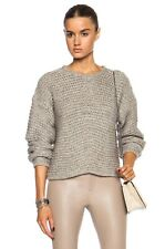 $360 Helmut Lang Soft Grid Cropped Wool-Blend Sweater - Size P TP 0 2