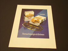 Rothmans Années 1985's - 1990's  Advertising Vintage AD Pub Paper 1980 - 1990