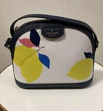 💙 Kate Spade Leather Sylvia Lemon Zest Dome Crossbody Bag SPRING PURSE NWT