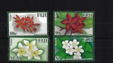 FIJI SG1453/6, 2011 FRANGIPANI FLOWERS MNH SET