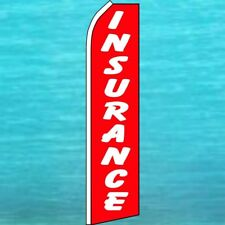 Insurance Flutter Flag Tall Curved Top Advertising Feather Swooper Banner Sign