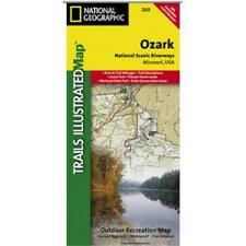 National Geographic TI00000260 Map Of Ozark National Scenic Riverways - Missouri