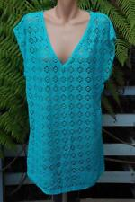 Autograph Quality Lacy SWIMSUIT Coverall. Size 24 TOP NEW rrp$59.99. Turquoise