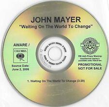 JOHN MAYER Waiting On The World To Change 2006 Acetate Promo CD Aware / Columbia